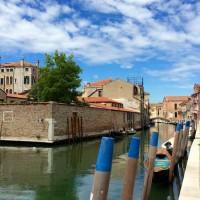 Fila de Venecia punto de encuentro, fondamenta Contarini mirando hacia la Madonna dell'Orto