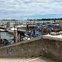 Fila de Venecia Sacca Misericordia barco de la marina
